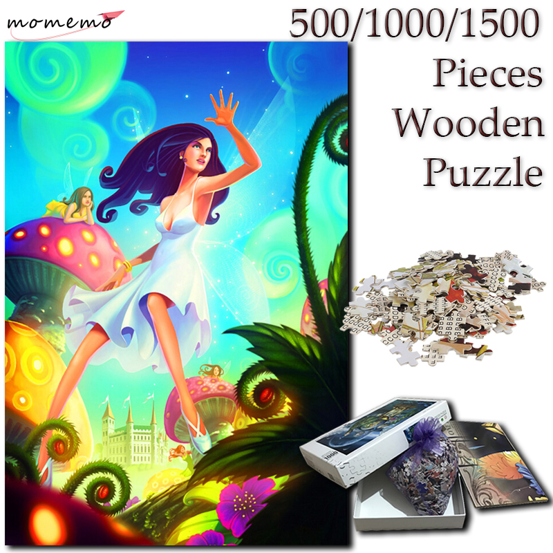 MOMEMO Dream for Girl 500 1000 <font><b>1500</b></font> <font><b>Pieces</b></font> Wooden <font><b>Puzzle</b></font> for Adults <font><b>Jigsaw</b></font> <font><b>Puzzles</b></font> Toy <font><b>Puzzle</b></font> Games Kids Children Toy Home Decor image