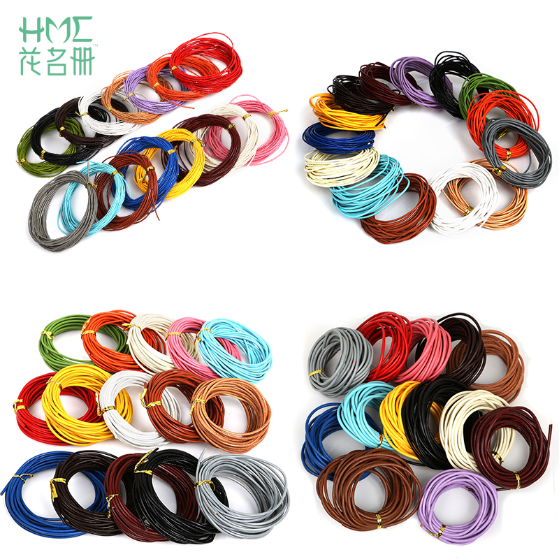 Craft County Round Braided Leather Jewelry Craft Cord Belts Crafts and Jewelry Making Natural, 3mm x 10 Yards Bracelets Necklaces