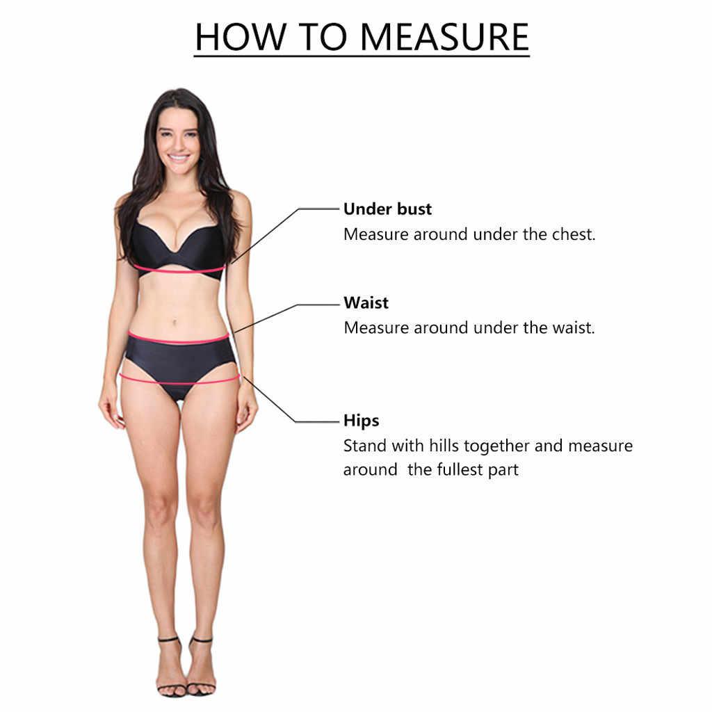 Bikini 2019 femmes deux pièces grande taille Sexy dos nu licou plage imprimer Bikini ensemble Femme natation Biquini Maillot De Bain Femme