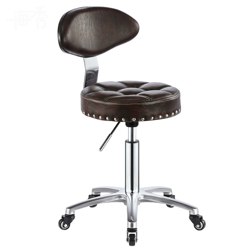 New Office Chair Hairdressing Bar Chair Simple Design Swivel Lifitng Stool Adjustable Height High Quality PU Material Backrest the bar chair hairdressing pulley stool swivel chair master chair technician chair