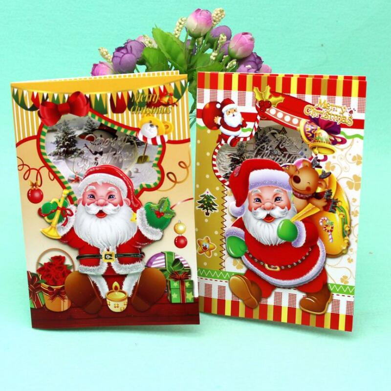 12 Pcs/lot Merry Christmas Music Blessing Card Santa Claus Happy New ...