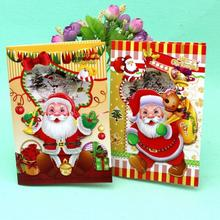 цена 12 Pcs/lot Merry Christmas Music Blessing Card Santa Claus Happy New Year Christmas Card Gift Postcards Greeting Card онлайн в 2017 году