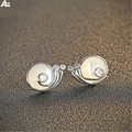 Morning Agent Brand S925 Silver earring Shell snails zircon eye  stud earrings women girl Sterling Silver earrings shell earring