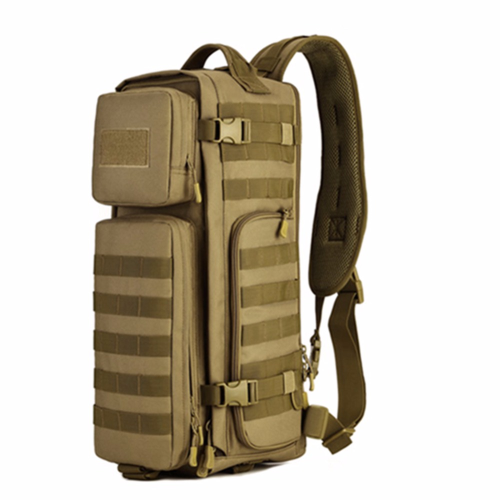 Men Chest Sling Back pack Men's Bags One Single Shoulder Man Large Travel Military Back packs Molle Bags Outdoors Rucksack string sling pack