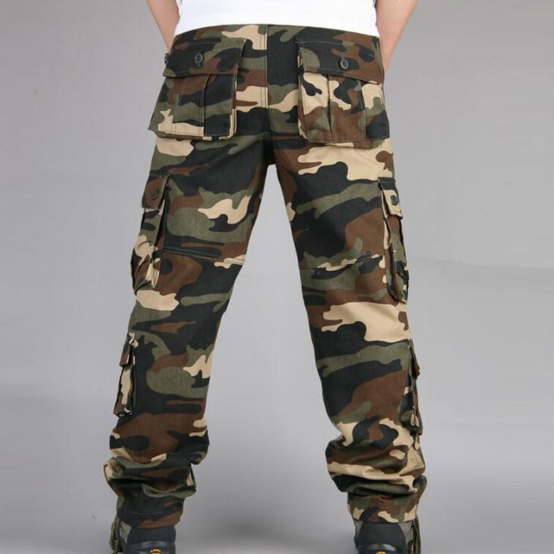 HTB1Xi8caljTBKNjSZFuq6z0HFXaS Camouflage Pants Men Casual Camo Cargo Trousers Hip Hop Joggers Streetwear Pantalon Homme Multi-pocket Military Tactical Pants