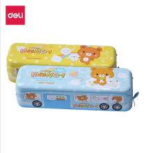 DELI Kawaii Car Style Pencil Cases Multi-functional Three-layer Creative Children Box Bag for School Student Etui