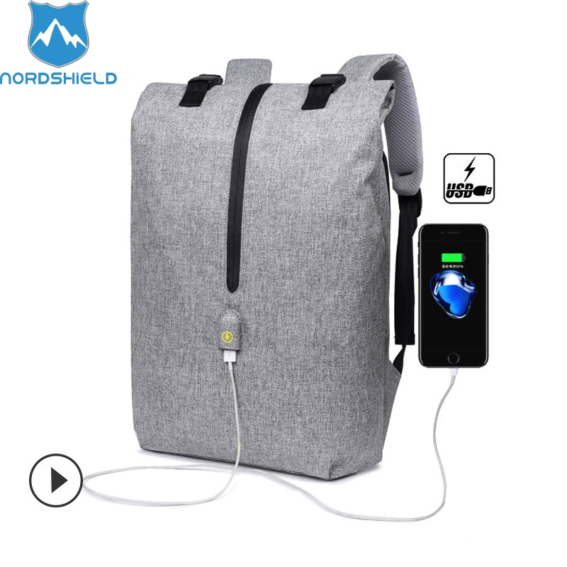 Nordshield Anti theft Travel Backpack USB Charging 15.6inch Laptop Backpack Men Nylon School Bag for Teenager Business Backpacks arctic hunter design backpacks men 15 6inch laptop anti theft backpack waterproof bag casual business travel school back pack