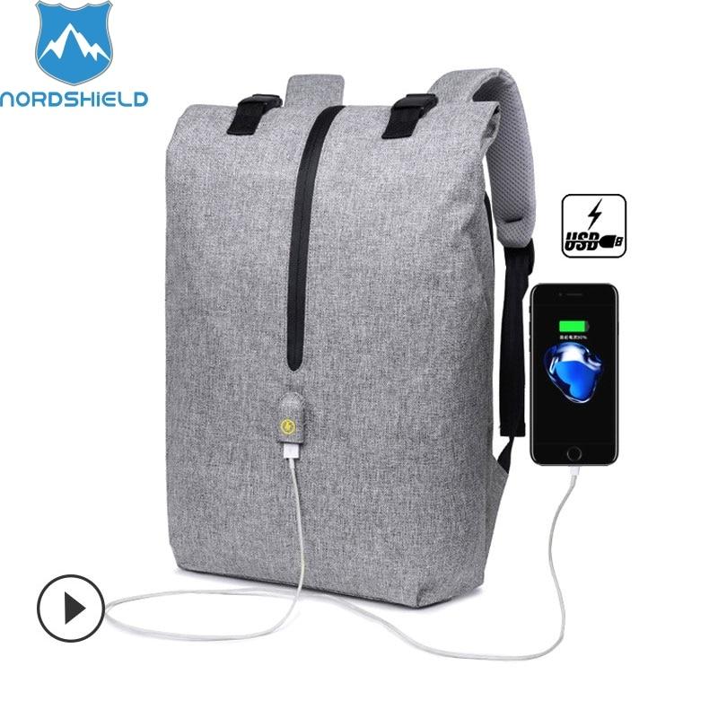 Nordshield Anti theft Travel Backpack USB Charging 15.6inch Laptop Backpack Men Nylon School Bag for Teenager Business Backpacks все цены