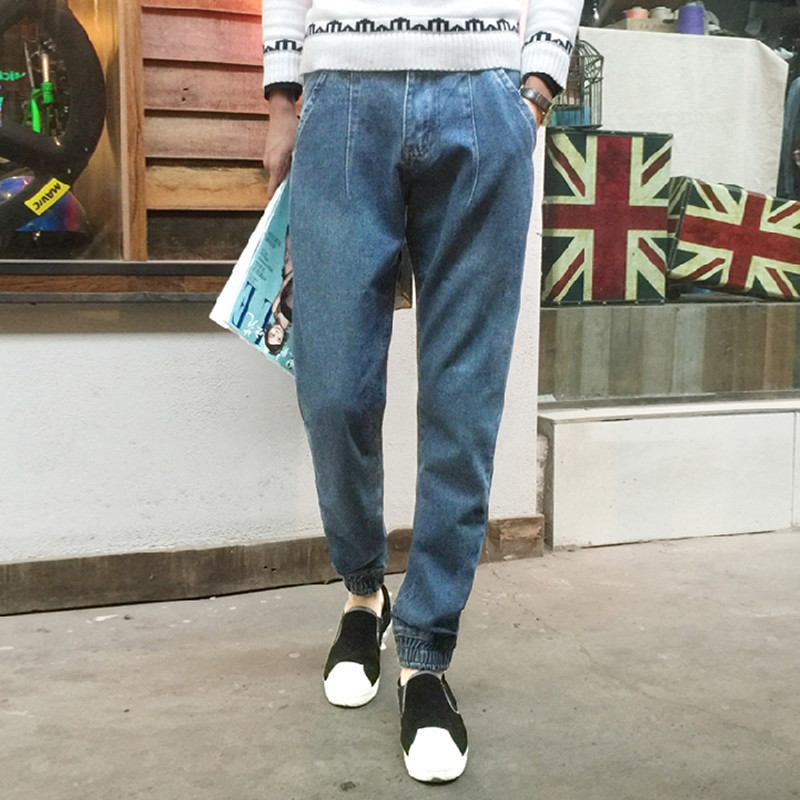 2016 the product sell like hot cakes fashion leisure cotton haroun pants Male pure color casual