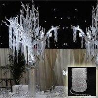 SıCAK 99 FT Garland Elmas Strand Akrilik Kristal Boncuk Düğün Dekorasyon Romantik Düğün Favor Lehine Kristal DN636