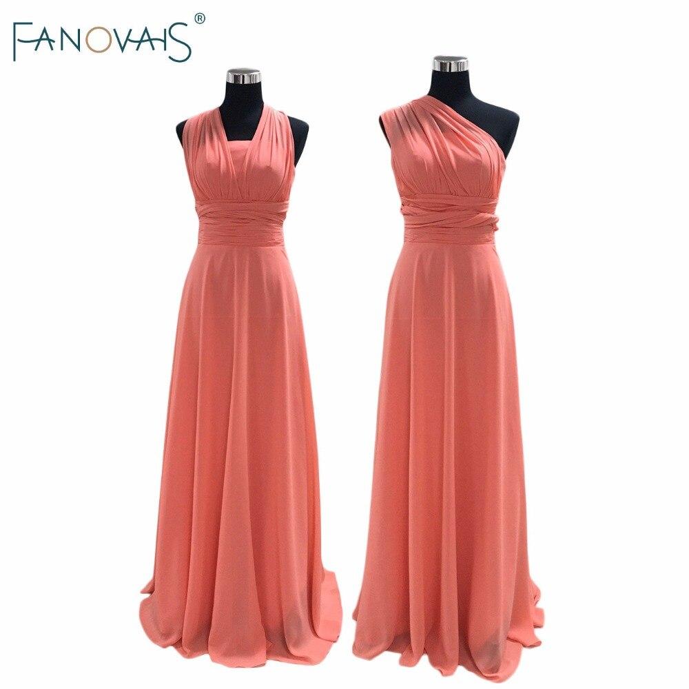 Real Photos Custom made Pleats Convertible Bridesmaid Dress Floor Length Cheap Bridesmaid Dress