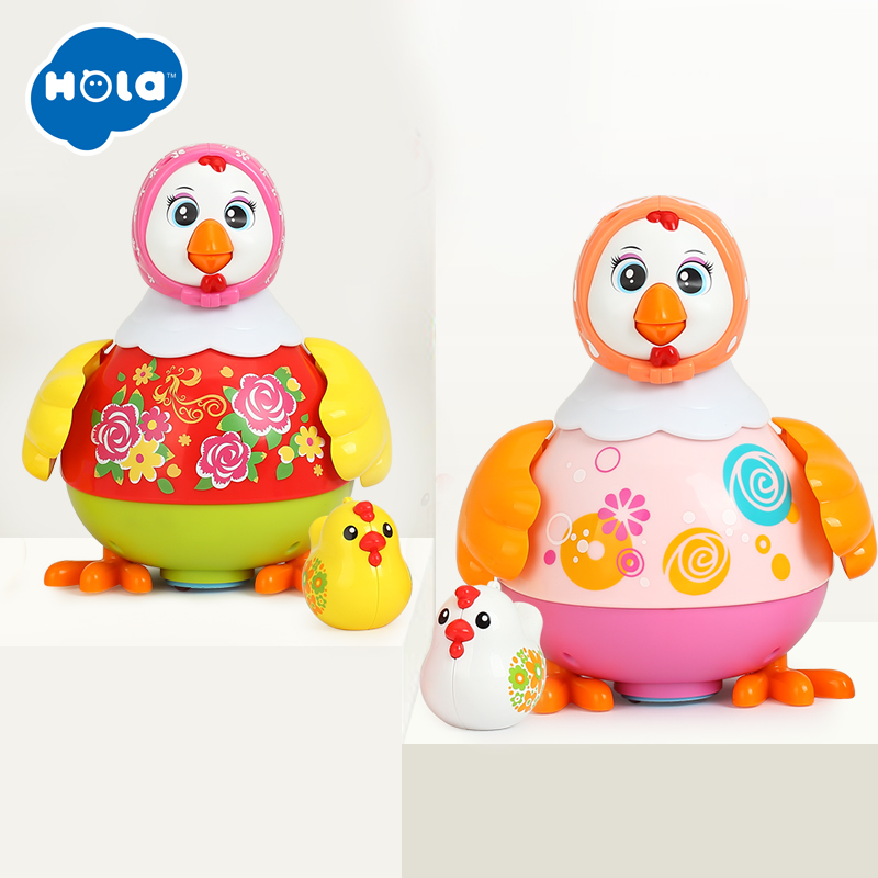 HOLA 6102 Chicken Toys Funny Animal Hens Lay Eggs Singing Dancing Electric Chicken Pet Toys for Children Gift image