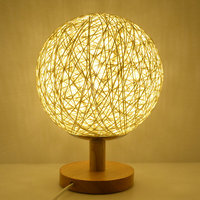 10 Colors Table Lamp Modern Sepak Takraw Wood Protect Eyesight Desk Lamp For Home Bedroom Living