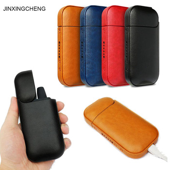 JINXINGCHENG Case for IQOS 2.4 Plus Cover  for IQOS Case Leather Pouch Bag Protective Holder new magic shark genuine leather business case for iqos e cigarette shell protective case cover bag for iqos black brown