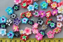 200 шт Разноцветные Подвески ручной работы из натуральной полимерной