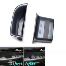 2x Car Front Seat Door Armrest Cover Phone Holder Storage Box Case Container Fit For KIA SORENTO UM 2016 Car Styling Accessories