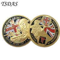 Free Shipping GREAT BRITish Infantery Metal Coins, 40*3mm Round Military Coins Gold Plated Double Sides