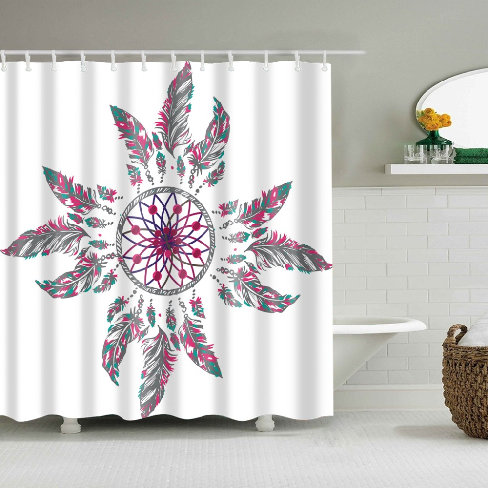 High Quality Dreamcatcher Bathroom Shower Curtain Polyester Multi Size Dream Catcher Printing In Curtains From Home