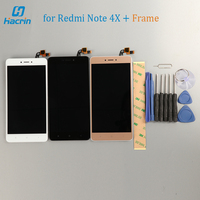 Redmi Note 4X LCD Display Touch Screen Frame Tools Glass Panel Digitizer For Redmi Note 4