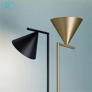 Image 4 - Moderna Oro Nero Nordic lampada da pavimento del salotto Ins camera da letto postmoderna E27 marmo in piedi di illuminazione per soggiorno camera da letto
