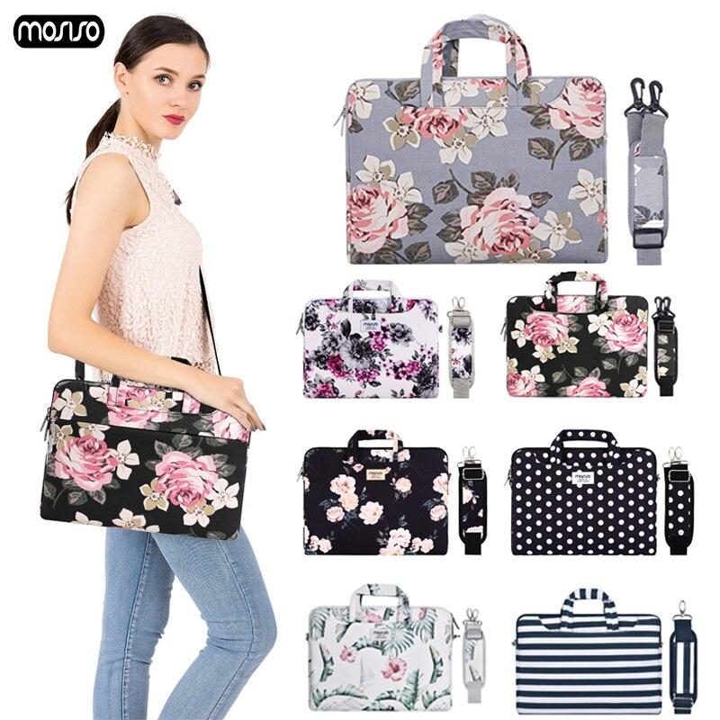 MOSISO Laptop Bag Case 13.3 14 15 15.6 Canvas Messenger Bags For MacBook Air 13 Case Waterproof Notebook Bag For MacBook Pro 15