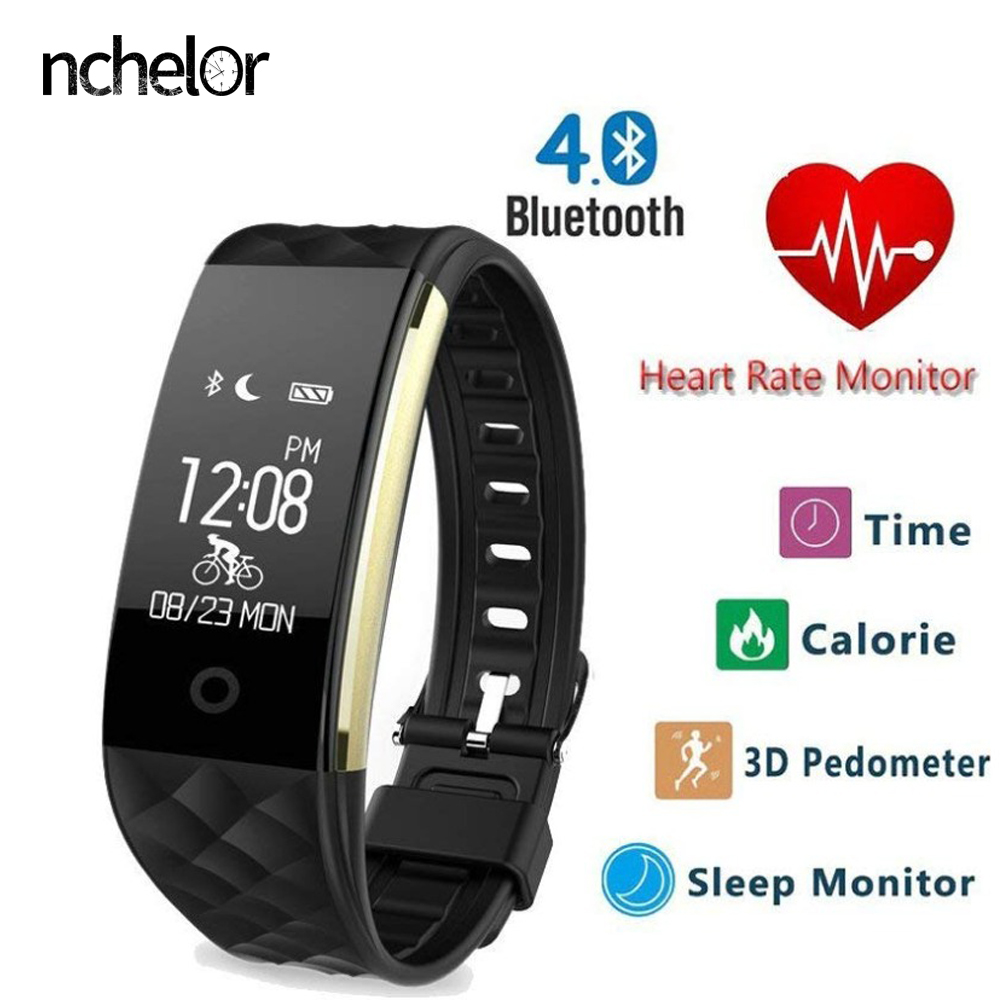 Smart Wristband Heart Rate Monitor Sport Fitness Tracker Bracelet Bluetooth4.0 Smart Watch For Android IOS PK xiaomi mi band 3