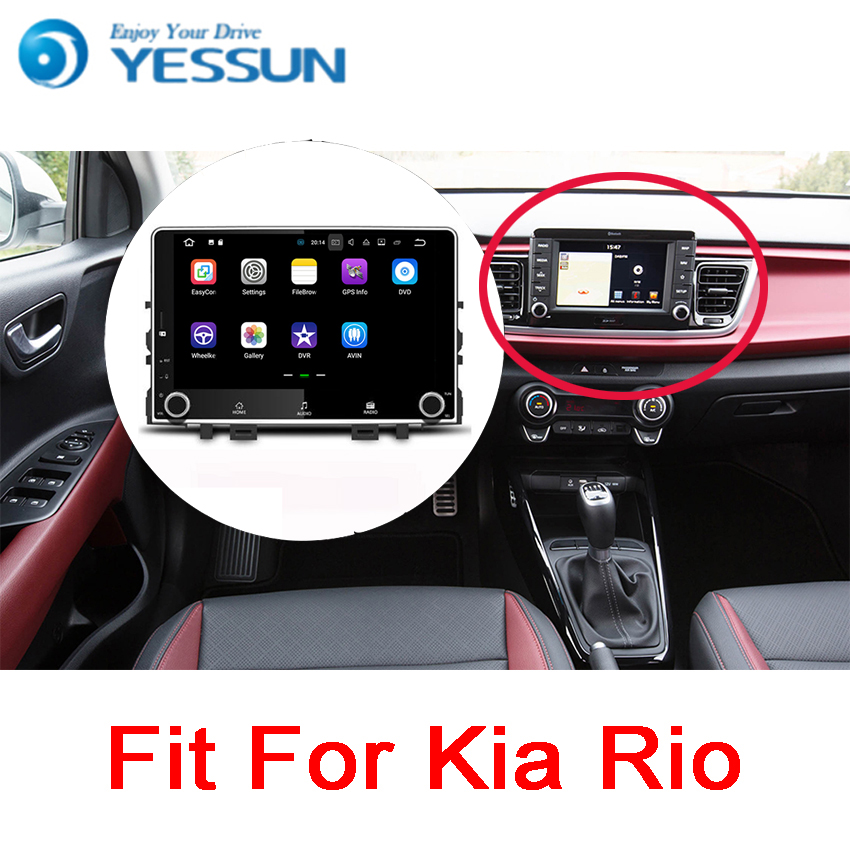 YESSUN For Kia Rio 2017~2018 Android Car Navigation GPS HD Touch Screen Audio Video Radio Stereo Multimedia Player No CD DVD yessun for jeep wrangler 2011 2017 car navigation gps android audio video hd touch screen stereo multimedia player no cd dvd