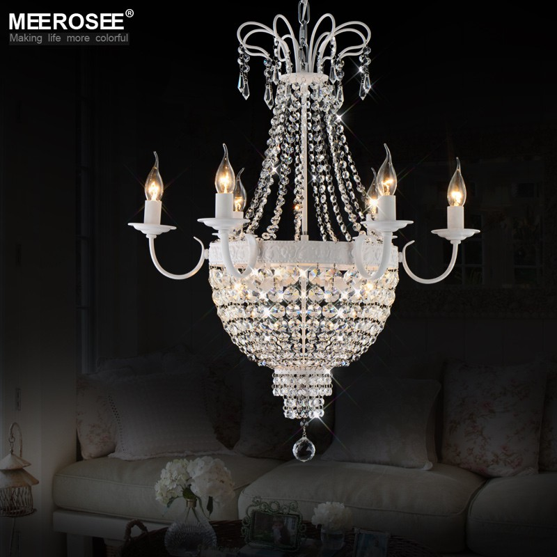 French Empire Crystal Chandelier Lighting Fixture Vintage Lustres Restaurant Crystal Lighting Wrought Iron Lustres Para Quarto