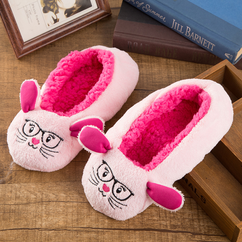 Cute funny ladies slippers fashion animal floor fur home slippers for women new indoor winter house shoes woman 2018 NBT1131 2017 totoro plush slippers with leaf pantoufle femme women shoes woman house animal warm big animal woman funny adult slippers page 8