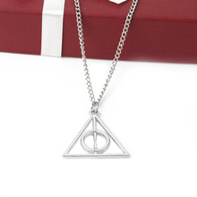 Collar Harry Potter | Luna Lovegood | figura de vidrio la piedra filosofal | the deathly Hallows
