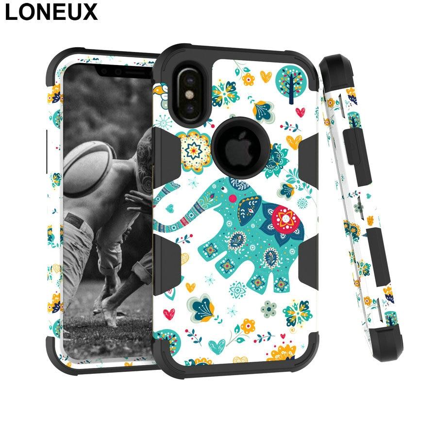 Loneux для iphone 8 Plus Роскошный телефон чехол для iPhone X 8 7 6 S 6 плюс Вернуться Т ...