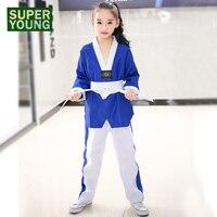 03260c3ff0585 Kids Karate Children Judo Uniforms Women Men Taekwondo Suits Baby Girl  Toddler Boy Fitness Martial Arts