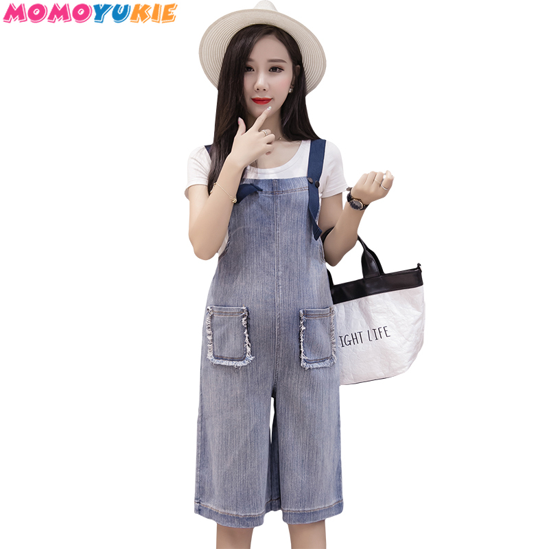 Maternity Clothings 2019 Pregnant Strap Denim Rompers Womens Jumpsuits Casual Pregnancy Pants Sleeveless Trousers Overalls