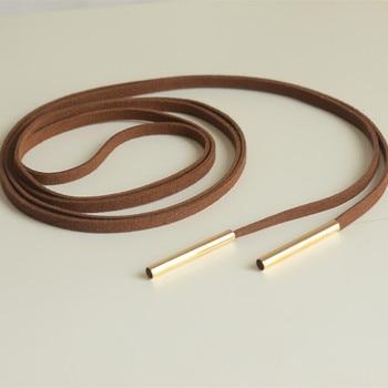 10PCS 2020 British Cowboy Women Collar Shirt Chain Rope Bow Bolo Tie Accessory Girl PU leather Necklace Alloy Head Choker Bowtie недорого