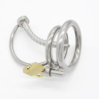 metal urethral catheter plug male chastity device lock cock cage stainless steel pneis ring cages sex products toys for men