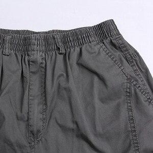 Image 5 - Autunno inverno Uomo cargo pants plus size safari di tasca di stile pantaloni di spessore 6XL 7XL 8XL fuori porta pantaloni diritti allentati pantaloni army green 48