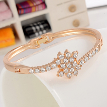 Hesiod Gold Color Full Crystal Charm Bangles & Bracelets Luxury Cuff Bangle Women Fashion Jewelry for Party