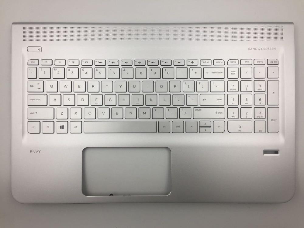 Genuine For HP 15-AE 15-AH Palmrest Keyboard Bezel with US Backlight Fingerprint Hole Laptop Shell Silver ae021tx ae018txGenuine For HP 15-AE 15-AH Palmrest Keyboard Bezel with US Backlight Fingerprint Hole Laptop Shell Silver ae021tx ae018tx