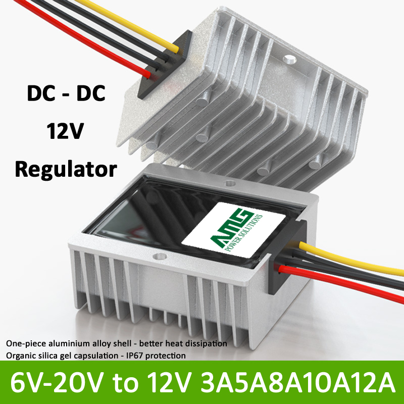 12V 3/5/8/10/12A DC-DC Buck + Boost IP67 Regulator Input 6V-20V оверлок jaguar 065d