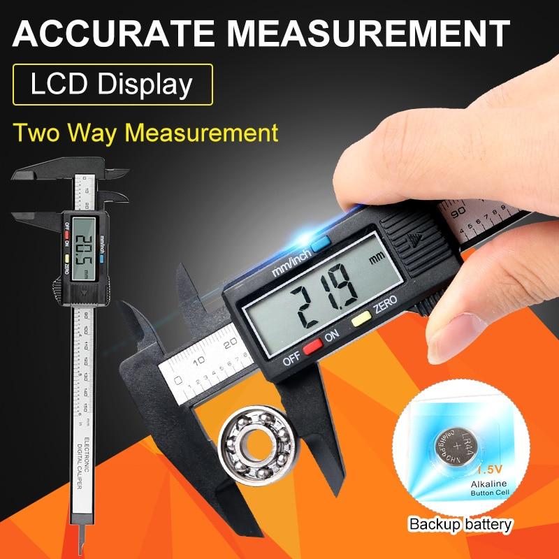 0-150mm/6 inch LCD Digital Electronic Vernier Caliper Intelligent Display Calipers Micrometer Measuring Tool