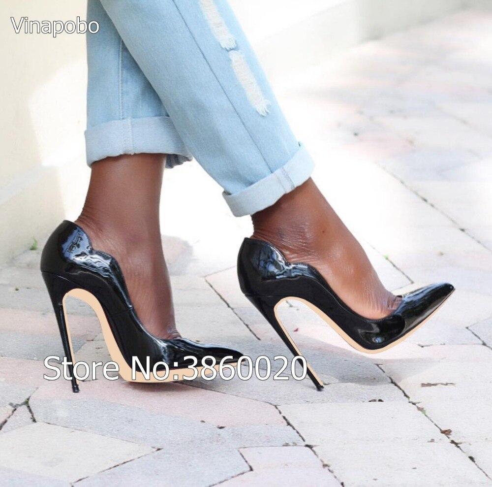 12 Verni Chaussures Mode Ouvert The as Cuir Cocktail Cm As Lady Top Talons Bout Pompes Aiguilles En Stylets Hauts À De Th Sexy Qualité Picture 6xUZH