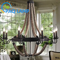 Vintage retro chandeliers lamps indoor lighting palatial Hemp rope candle sitting room LED coffee bars Parlour light fixture