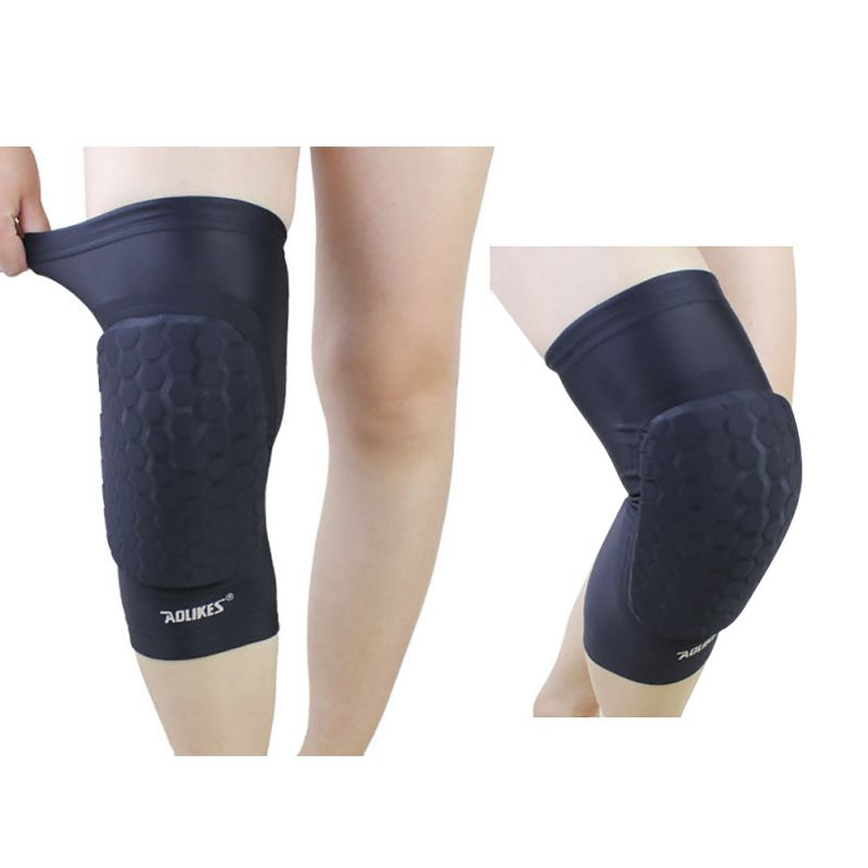 1 Piece Honeycomb Crashproof BasketBall Protective Gear Volleyball Knee pads Compression Knee Support Sleeve Wraps Protection H5