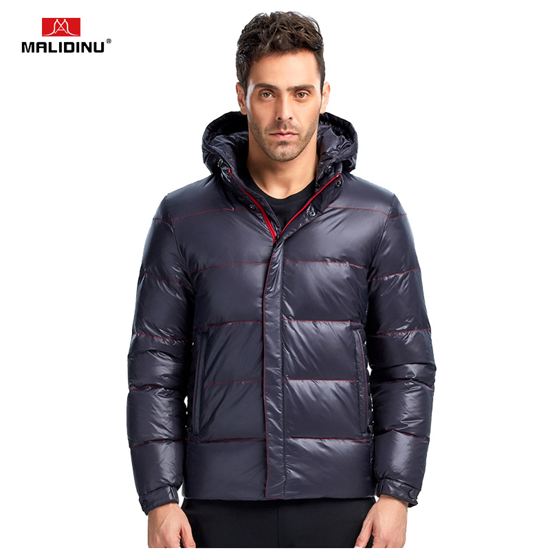MALIDINU 2019 Merk Donsjack Mannen Winter Down Jas Donsjack Man Hooded Red Winter Warm Jas Big Mens Size winter Jassen - 5