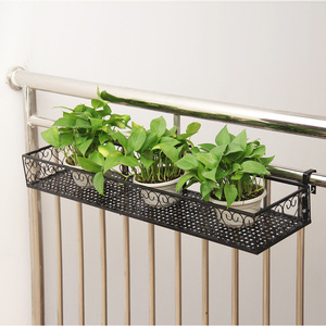 Image 3 - Balcony hanging flower stand iron frame plant stand outdoor decoration display metal frame