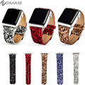 DAHASE Bling Christmas Shiny Glitter PU Leather Band for Apple Watch Series 2 Strap Belt for iWatch 1st 2nd 38mm 42mm Watchband