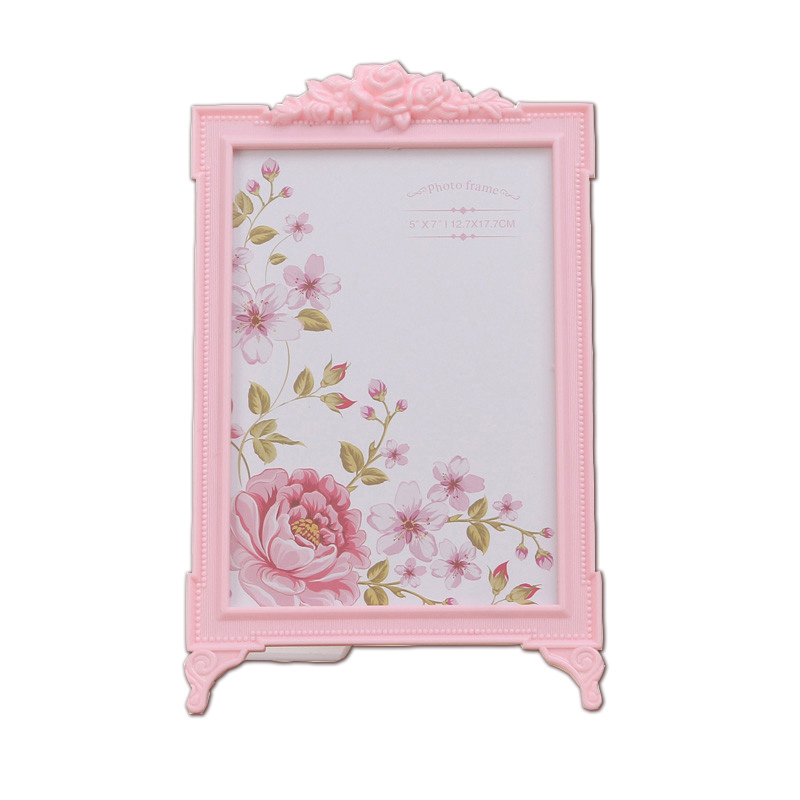 1 Piece Korean Pink Children Photo Frame 6 Inch 7 Inch White Picture Frame European Creative Photo Frame Decoration in Frame from Home Garden