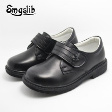 Girls Shoes Kids Genuine Leather Children Party 2018 Boys Dress School For Black Casual Sneakers