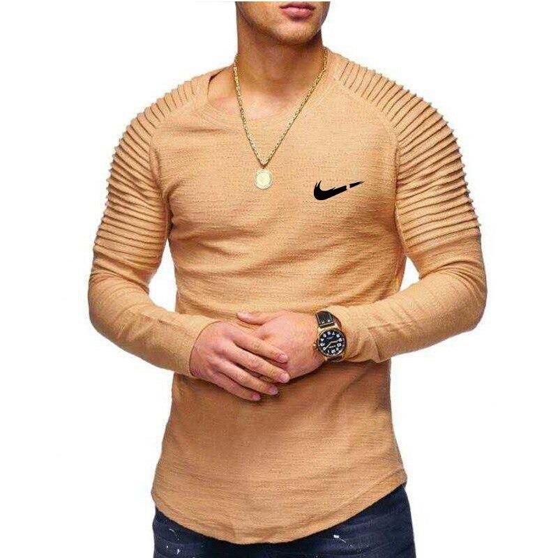 Newest 2019 Summer Men Long Sleeve T-shirt Fashion Brand Logo Print Cotton T shirt Men Trend Casual Short sleeve Tshirt Tops te