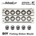 Adygil DIY рыболовный шар грузило плесень ADBASM/#7 мяч грузило 85 г 6 полостей